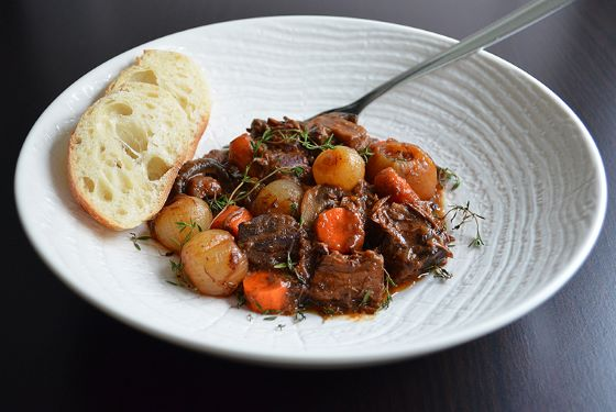 classic bœuf bourguignon by a cook's canvas