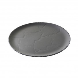 set of 4 basalt round plate, 2 sizes