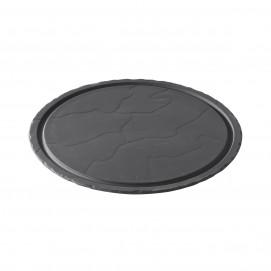 Basalt matt slate style round plate