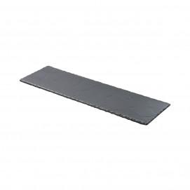 Basalt matt slate style long serving rectangular tray