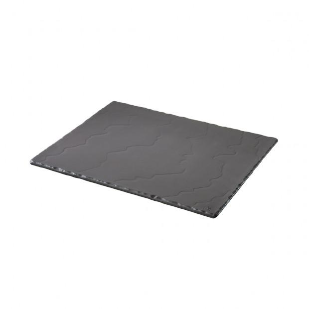 Basalt matt slate style large serving rectangular tray