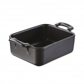 Belle cuisine black cast iron style individual rectangular baking dish