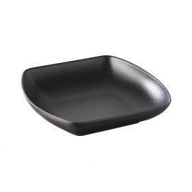 Club black cast iron style square deep plate