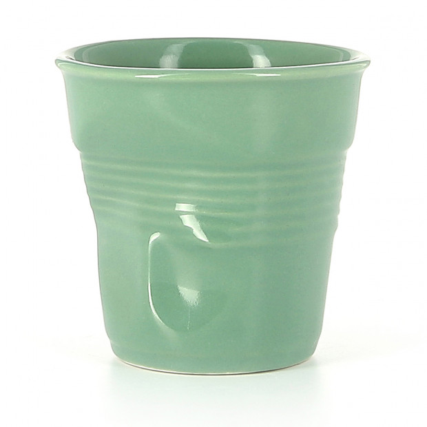 Crumpled coffee cup sage 2 sizes