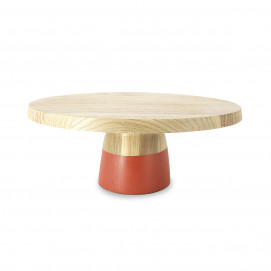 Color Lab low cake stand and glass dome
