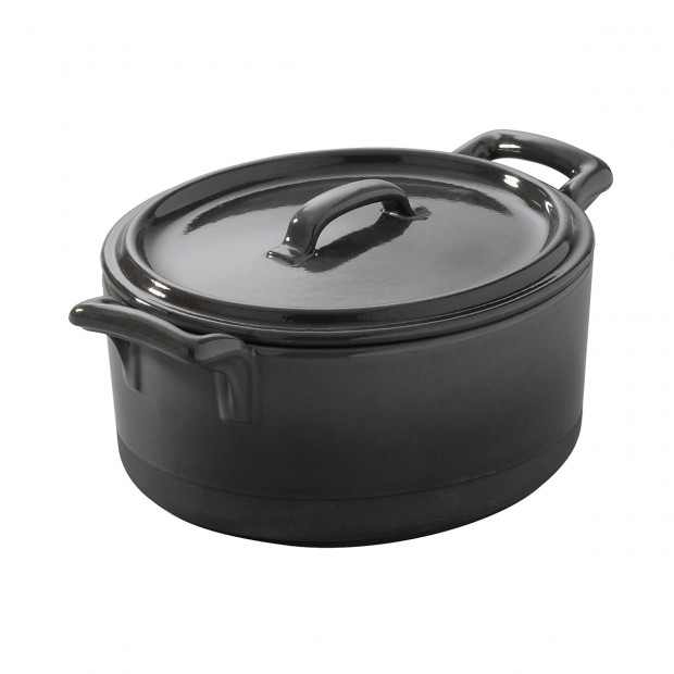 Eclipse slate cocotte with lid