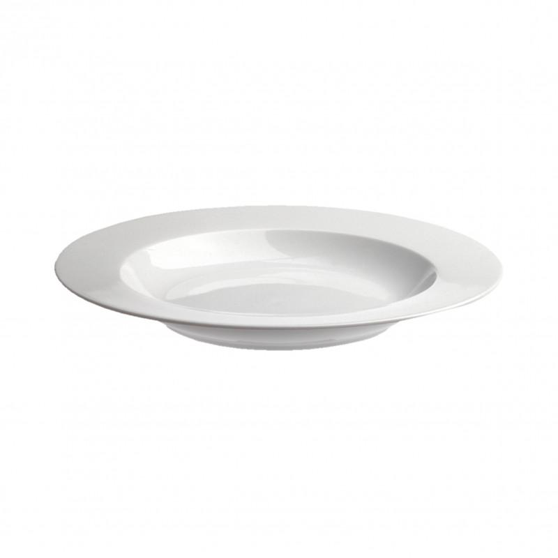White Porcelain Soup Plates French Classique