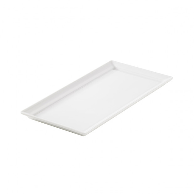 Time Square white rectangular tray