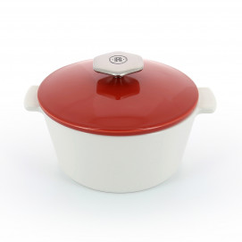 Revolution 2 round ceramic cookware pepper red induction