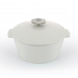 Revolution 2 round ceramic cookware satin white induction