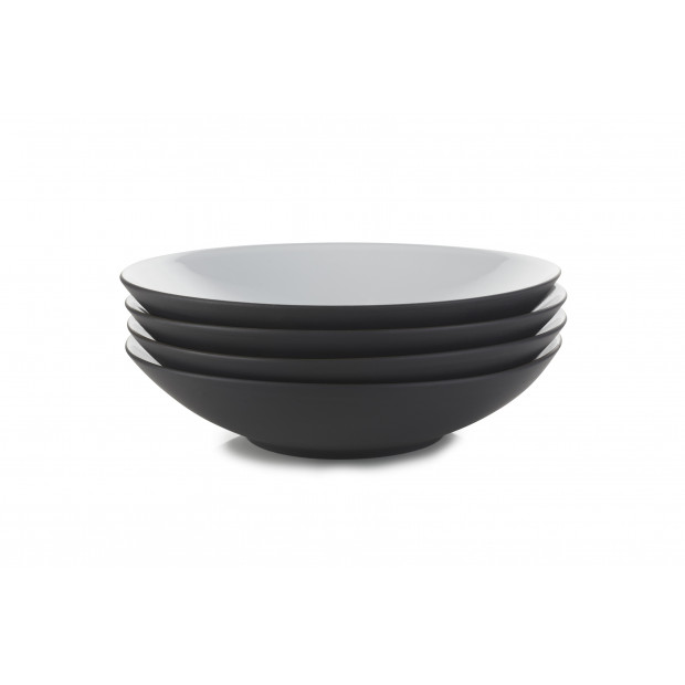 "Set of 4 Equinoxe coupe plates ø9.5"" 4 colors"