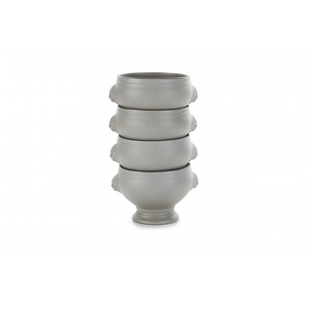 Set of 4 French Classics pepper lion head soup bowls 12.25Oz