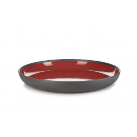 Solid pepper red gourmet plate Ø10.75""