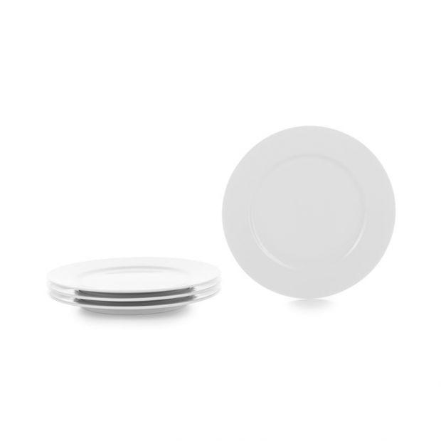 Set of 4 French Classics white dessert plates 2 sizes