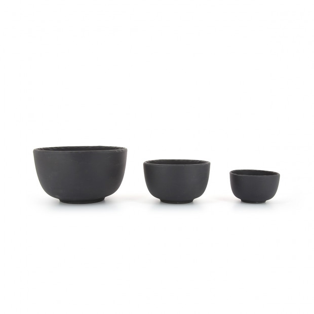 Basalt matt slate style small bowls 3 sizes