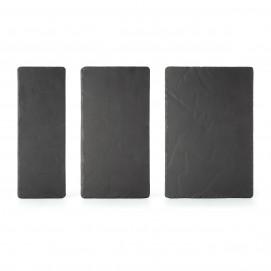 Basalt matt slate style rectangular appetizer plate 3 sizes
