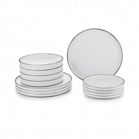 Set of 12 pieces Caractere white cumulus