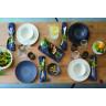 "Arborescence large dinner plate ø12.25"" 3 colors"