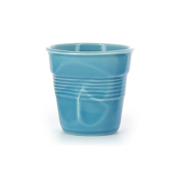Crumpled coffee cups caribbean blue