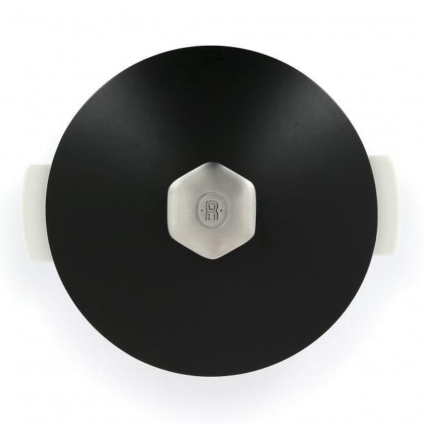 Revolution 2 round ceramic cookware satin black induction 3 sizes
