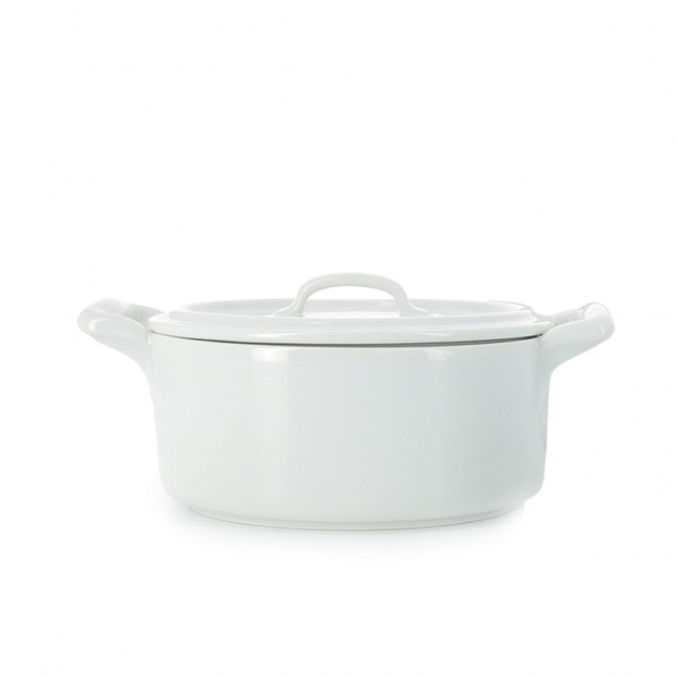 Belle Cuisine white oval covered casserole 2 sizes