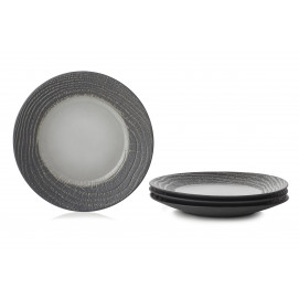 "Set of 4 Arborescence dessert plates ø8.5"" 3 colors"