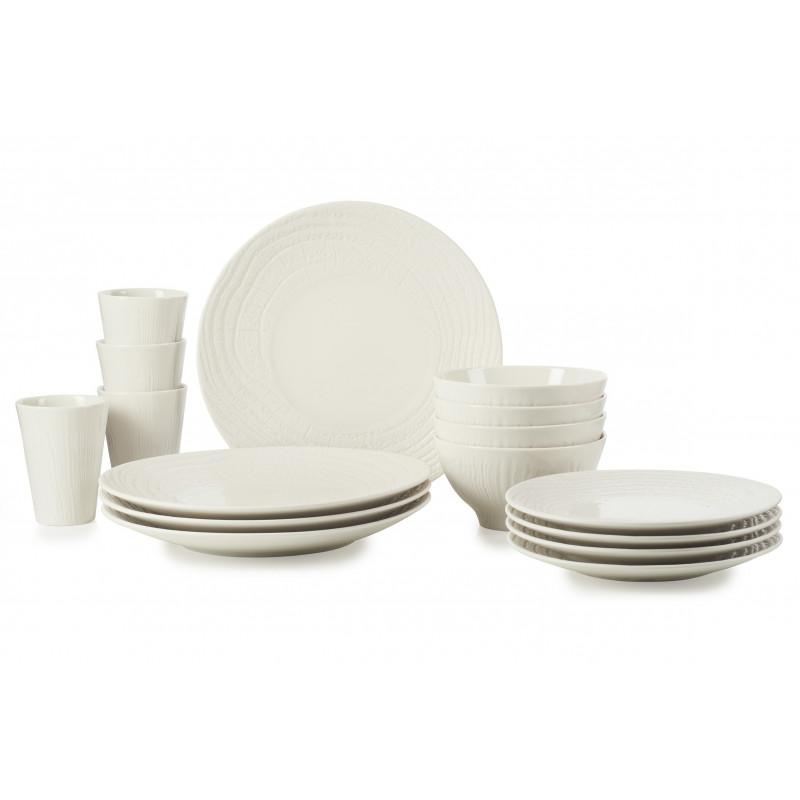 Set of 16 pieces, dinner plates ivory high end porcelain