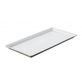 Eclipse white rectangular tray