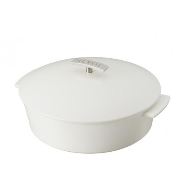 """Revolution shallow round dutch oven 3.8QT satin white ø11"""""""