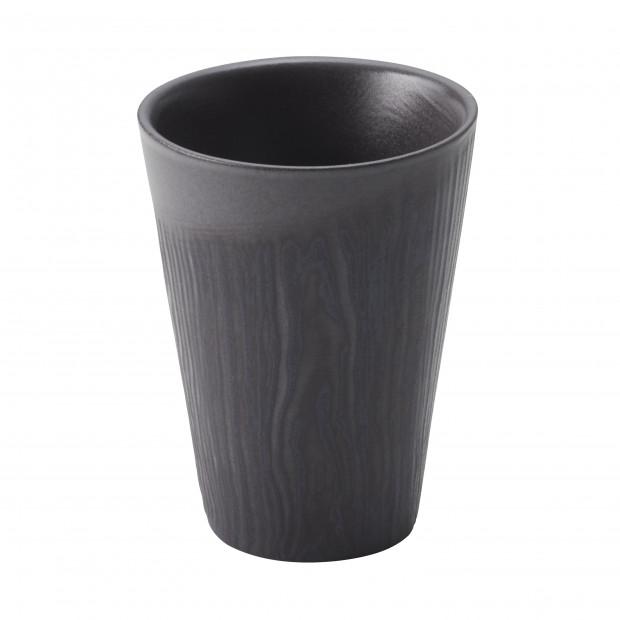 Tasse en porcelaine effet bois - Réglisse