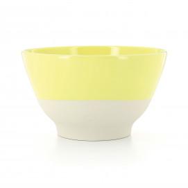Bol coloré en porcelaine - jaune Citrus