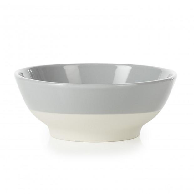 coupelle à céréales colorée en porcelaine - Gris Stratus
