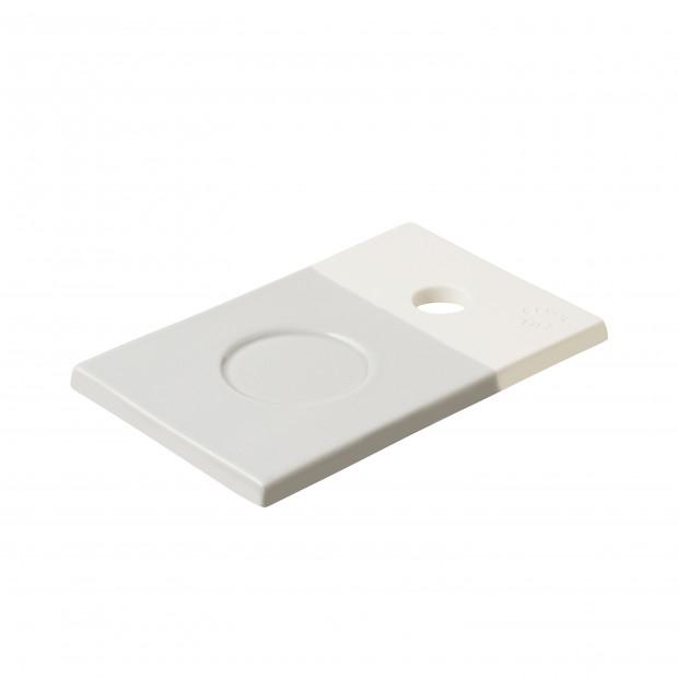 Petite planche colorée en porcelaine - Gris Stratus
