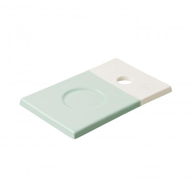 Petite planche colorée en porcelaine - Vert Céladon