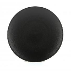 Assiette plate en céramique - Noir effet fonte