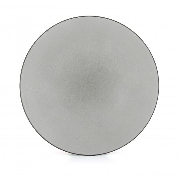 Assiette plate en céramique - Poivre