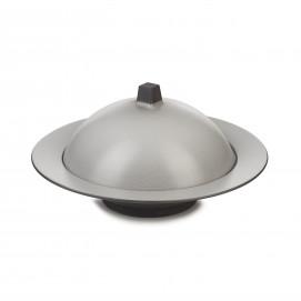 Ensemble Dim Sum cloche et assiette creuse en céramique - Poivre