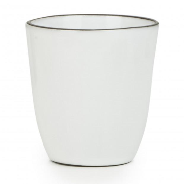 Gobelet 15 cl en porcelaine - Blanc Cumulus