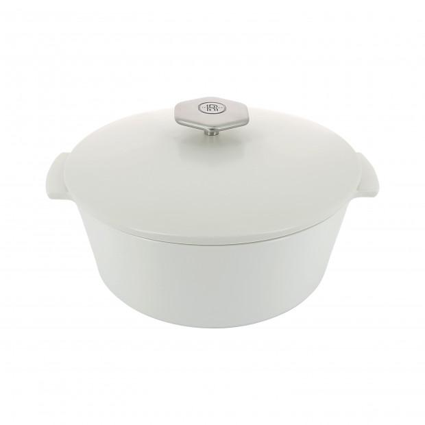 Cocotte ronde en céramique sans induction - Blanc Kilimandjaro