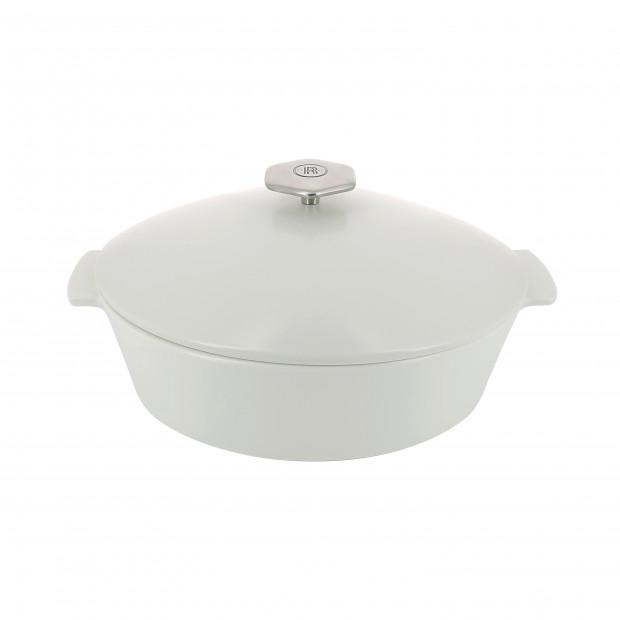 Cocotte ovale en céramique sans induction - Blanc Kilimandjaro