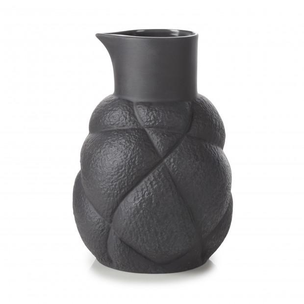 Pichet 75 cl en porcelaine - Noir
