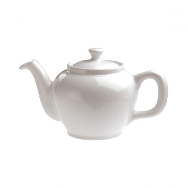 theiere boule avec couvercle en porcelaine blanche - les essentiels