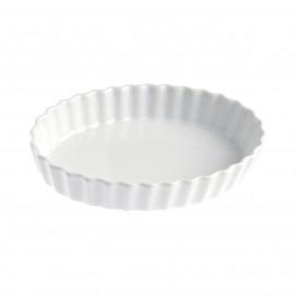 tourtière ovale en porcelaine blanche - french classics