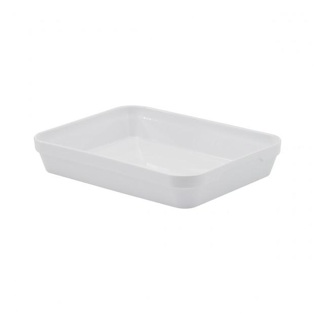 plat rectangulaire profond londres en porcelaine blanche - les essentiels