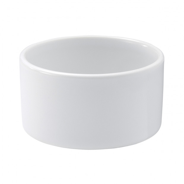 ramequin lisse en porcelaine blanche - les essentiels