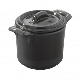 cocotte 45cl en porcelaine avec couvercle - belle cuisine eclipse