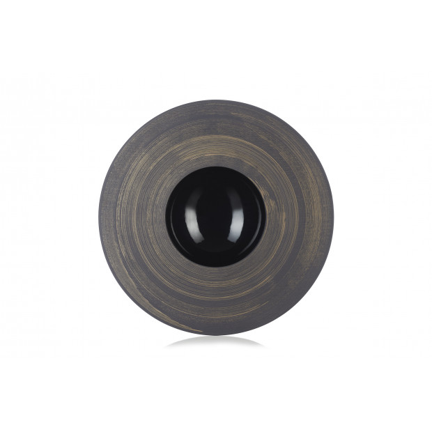 assiette sphère crescendo cuivre - solid