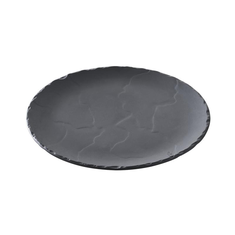assiette ronde effet ardoise revol c ramique. Black Bedroom Furniture Sets. Home Design Ideas