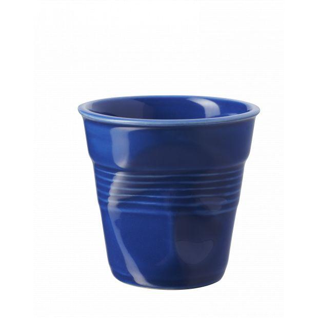 Froissé espresso uni Bleu K