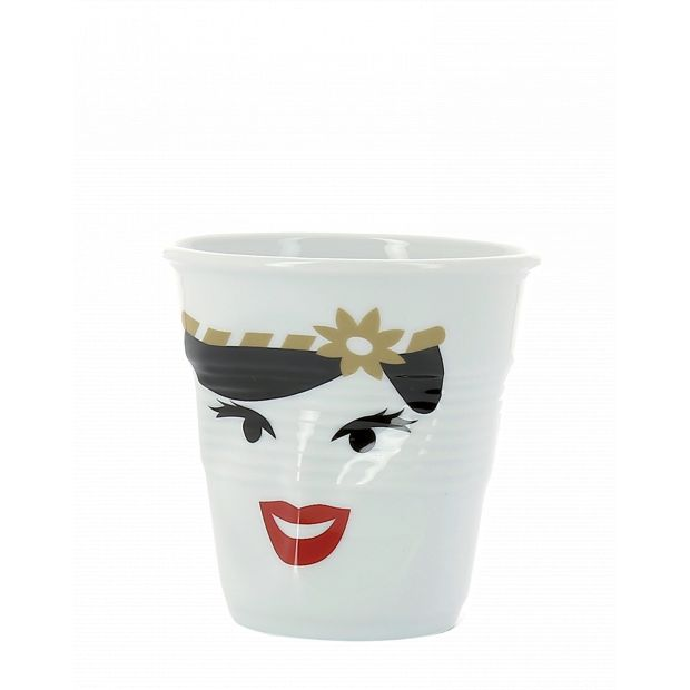 Froissé espresso décoré Madame Bohème